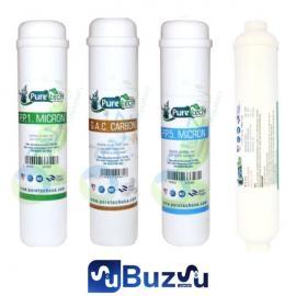 Puretech Yakut 4 Lü Set - Ön 3 Filtre + Tatlandırıcı