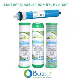 Ecosoft UYUMLU 4 Aşama Filtre Seti (Ecosoft Membranlı)
