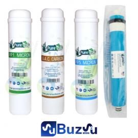 Puretech Yakut 4 Lü Set - Ön 3 Filtre + Membran