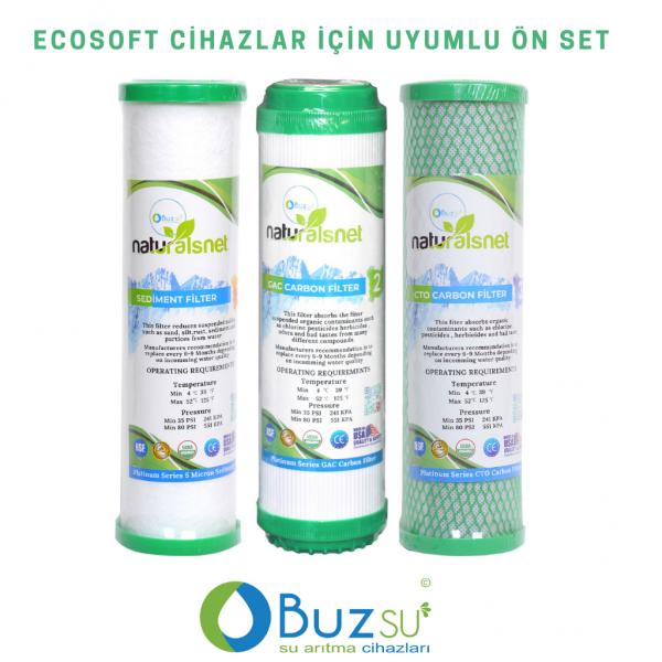 Ecosoft Uyumlu 3 Aşamalı Ön Filtre Seti Fiyatı - ÜCRETSİZ KARGO