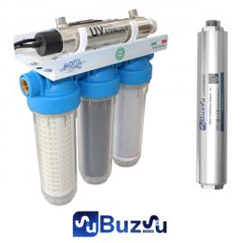 UV 'li 3 'lü Bina Girişi Manyetik Kireç Önleyicili Filtreleme Sistemi